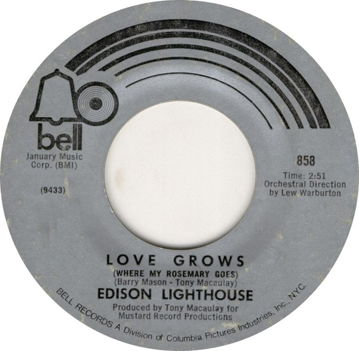 Love Grows (Where My Rosemary Goes) - 1970