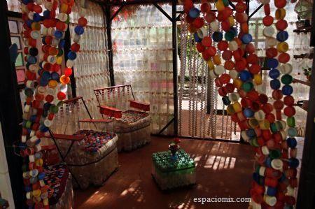 Casa de Botellas_Bolivia_Associazione di Ingrid Vaca Diez_Vista dell'interno