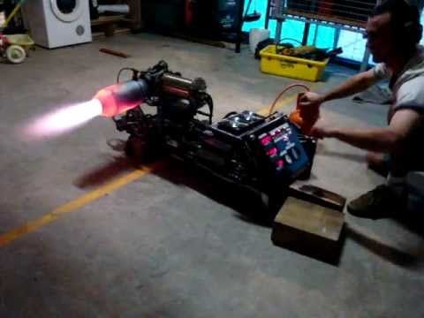 ▶ Jet engine home made DIY with after burner - YouTube