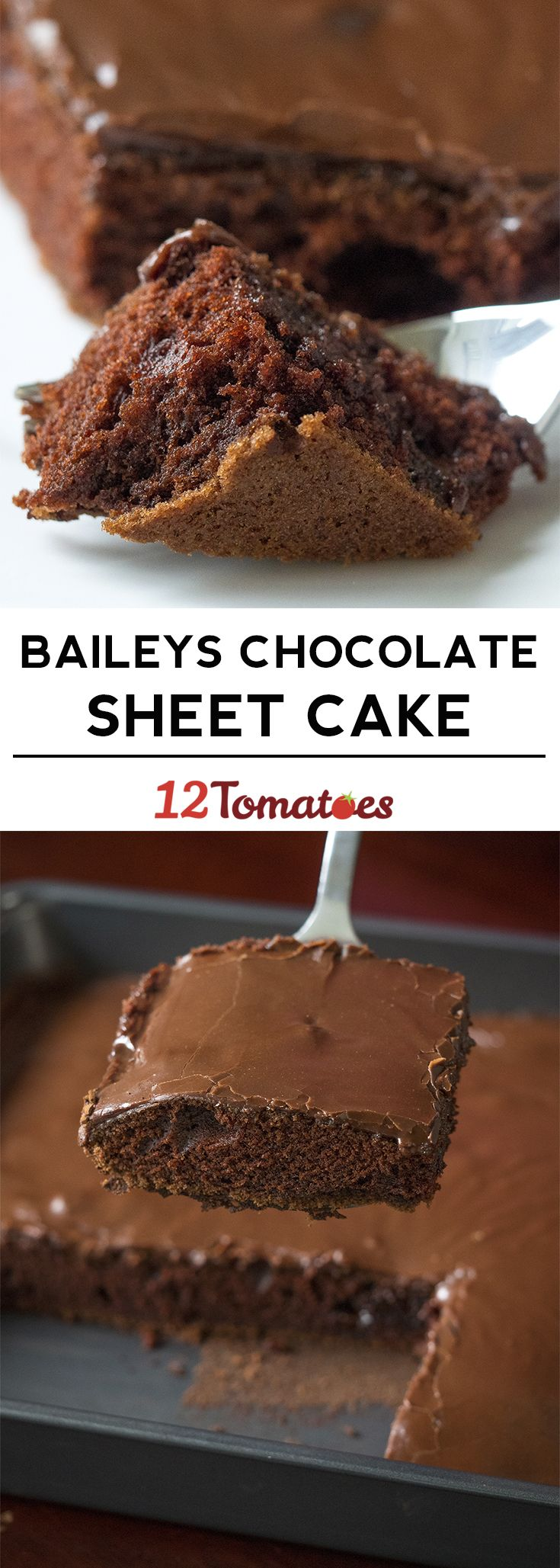 Baileys Chocolate Sheet Cake