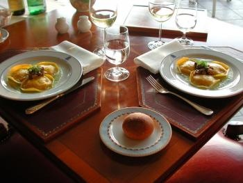 Some dishes of the restaurant.