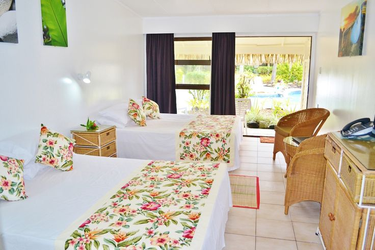 Poolside room at Club Raro, Rarotonga, Cook Islands.