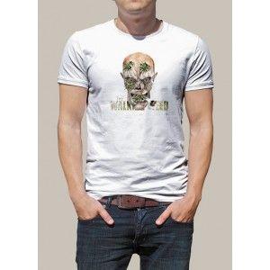 """Tee shit original imprimé, parodie de """"The Walking Weed"""", parodie des célèbres morts-vivants de la série """"The Walking Dead"""". T-shirt personnalisé, modèle homme. Laissez-vous enfumer par ce t shirt geek zombie humoristique !"""