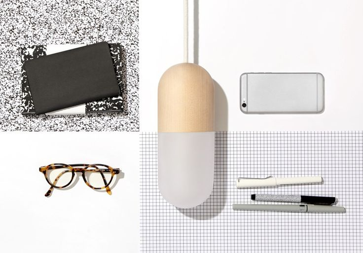 Pill lamp - desk styling - finnish design