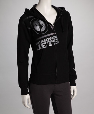Take a look at this Black Winnipeg Jets Zip-Up Hoodie - Women by Viral on #zulily today!