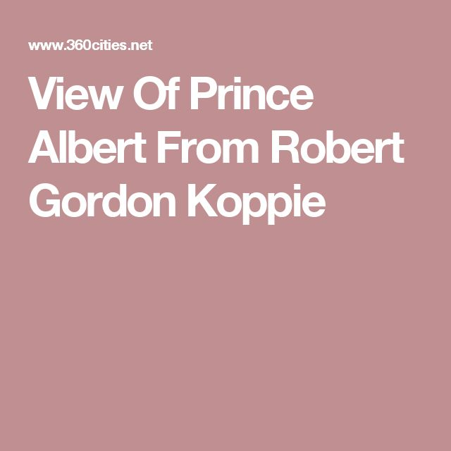 View Of Prince Albert From Robert Gordon Koppie