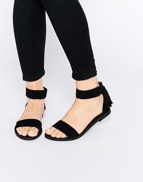 Sandalias planas en 2 partes de New Look