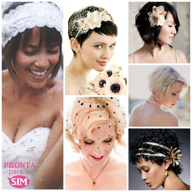 As melhores dicas e acessórios para noivas de cabelos curtos