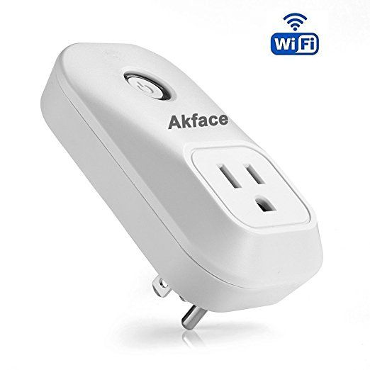 Akface Smart Plug,Wi-Fi Wireless Remote Control Electronics Outlet Switch for Household Appliances