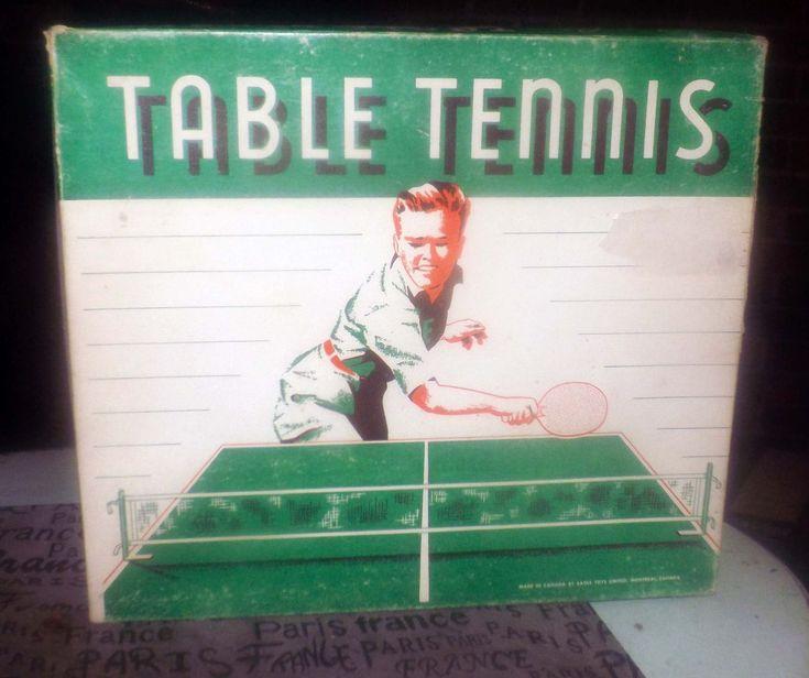 Midcentury 1950s 2player table tennis set eagle toys