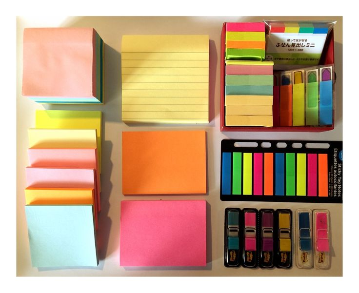 "studying-eh: "" My army of sticky notes """