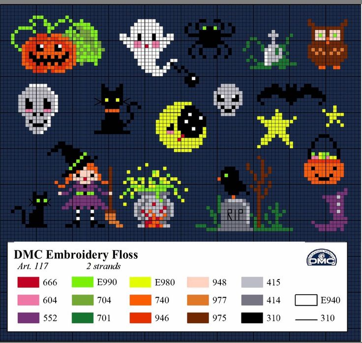 Halloween ghost cross stitch.