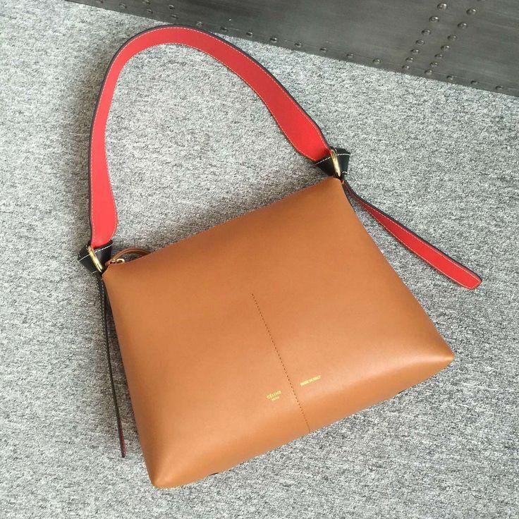 Celine Shiny Smooth Calfskin Zipped Twisted Cabas Bag Spring 2016 ...