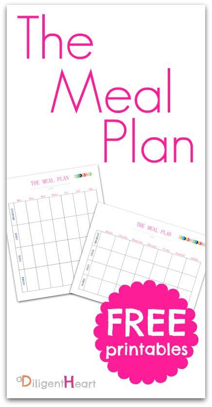 The Meal Plan FREE Printable