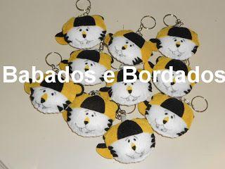 Babados & Bordados: Festa :Tigor (mochila,chaveiro)