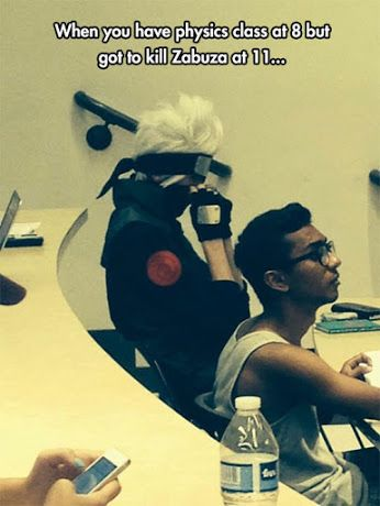 Kakashi Cosplay I find this so funny!!