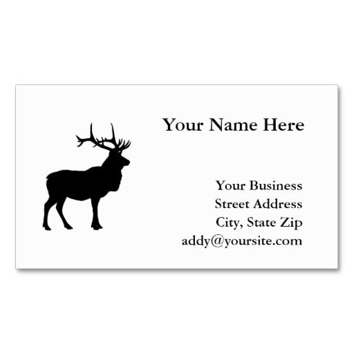147 best hunter business cards images on pinterest business cards elk silhouette business card template accmission Choice Image
