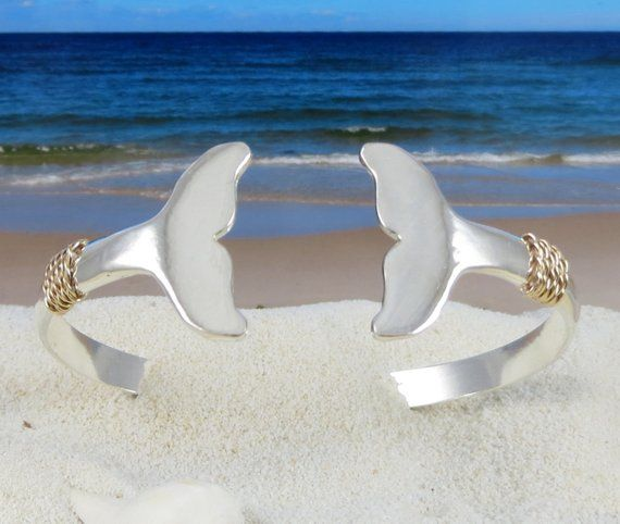 Nautical Whale Tail Bracelet Hand Crafted On Cape Cod Out Of Etsy Whale Jewelry Nautical Whale Preppy Jewelry