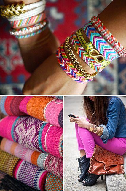 Friendship bracelets: Summercolors Jpg, Colorful Bracelets Tutorial, Color Inspiration, Chevron Colors, Play, Braided Friendship Bracelets, Summer Colors, Style Files, Bright Colors