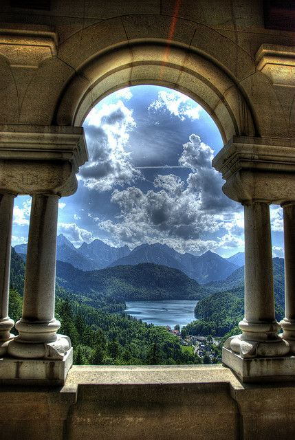 View from Neuschwanstein Castle, | http://awesome-my-famous-castles.blogspot.com
