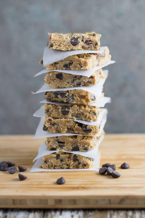 Raw Chocolate Chip Cookie Dough Bars