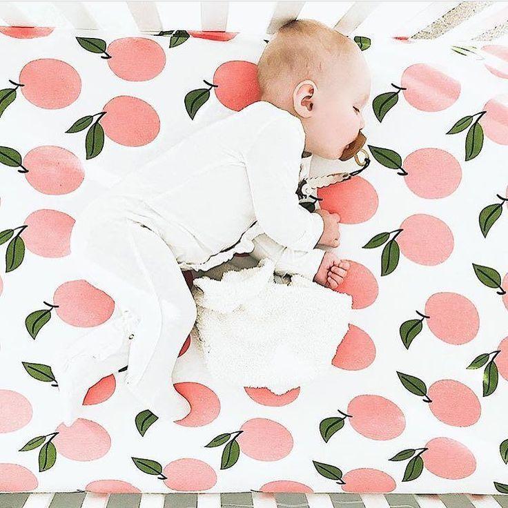 Peach dreams! @hkpfeff523 shop Peach Crib Sheets at spearmintLOVE.com