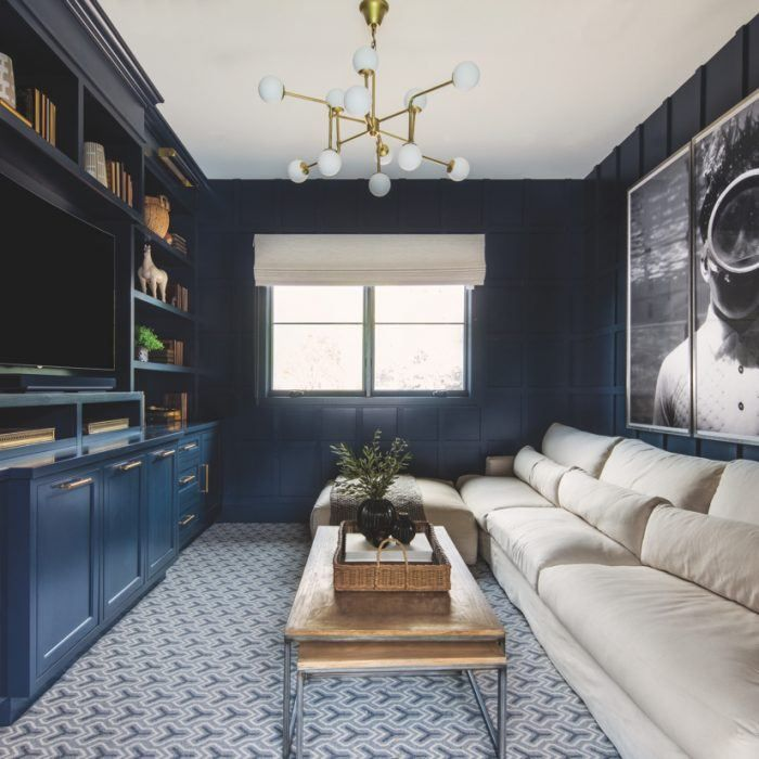 A Designer Brings Her Own Style To Her Arcadia Home Media Room