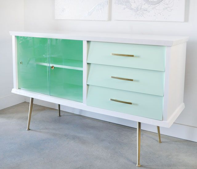 Before and After: Painted Vintage Sideboard - visualheart - Best 25+ Vintage Sideboard Ideas That You Will Like On Pinterest