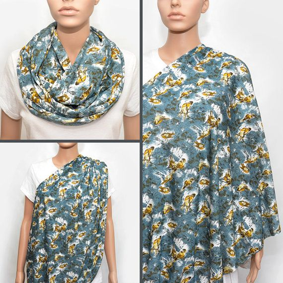 how to use an infinity scarf as a nursing cover