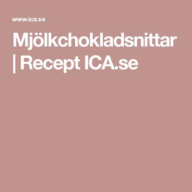 Mjölkchokladsnittar   Recept ICA.se