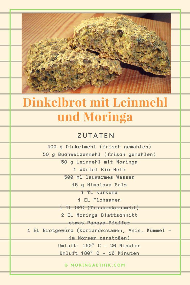 Dinkelbrot mit Leinmehl und Moringa