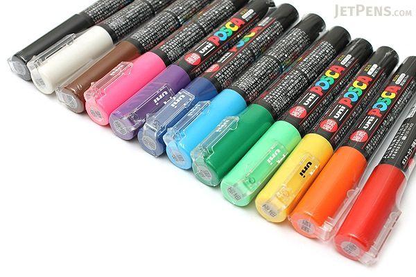 Uni Posca Paint Marker PC-1M - Extra Fine Point - 12 Color Set - UNI PC1M12C