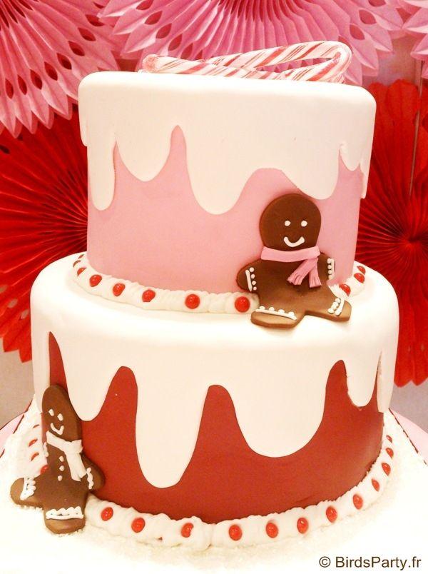 Sweet table de Noel candyland avce #printables, recettes et décorations #DIY #sweettables