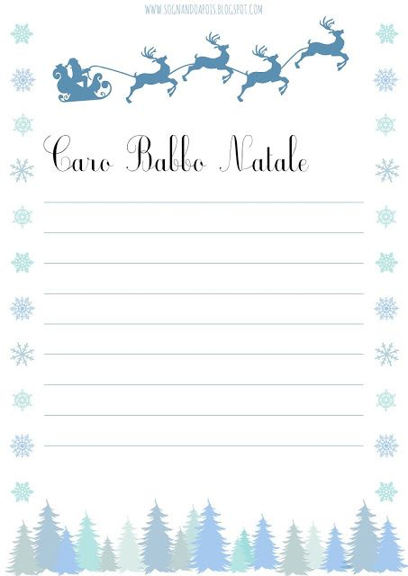 20 - La letterina per Babbo Natale - Free printable