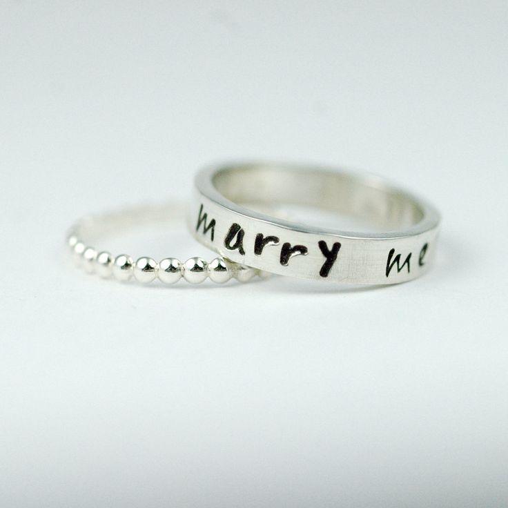 Marry Me Promise Ring or Alternative Engagement Ring. $84.00, via Etsy.
