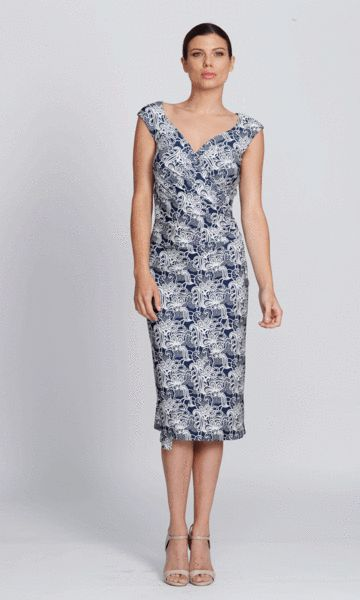 Lucia dress in blue lace