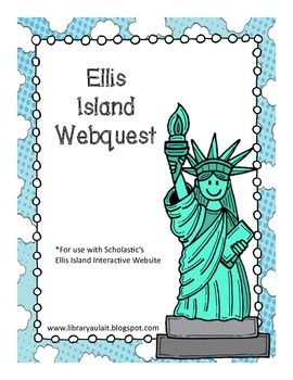 This is a 7 page webquest that goes along with the free Scholastic Ellis Island Website.I use it with my gifted and talented second graders, but it is also appropriate for grades 3, 4 and 5.The questions on the webquest have students exam photographs, text, captions and maps on the Scholastic website!I have used it as a whole group activity as we explore the website together on the SMARTboard and as an individual activity.