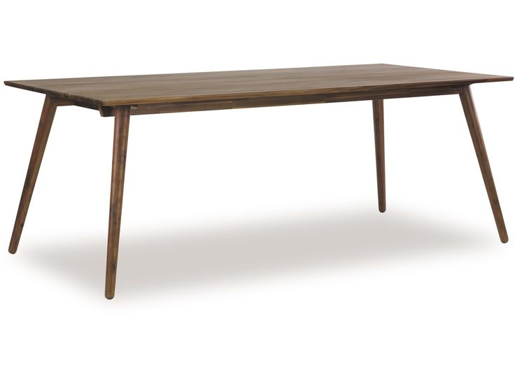 As the name suggests, the Copenhagen Dining Table is a Danish designed piece presented in a beautiful Walnut timber. Functionality meets beauty with the sturdy thin angled legs which are typical of Scandinavian design. The Copenhagen Dining Table is a great way of introducing a little bit of Denmark into your living room.