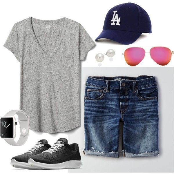 Saturday at the Kylieharris Ball Field on Polyvore Modest Shorts Outfit, Berm …..