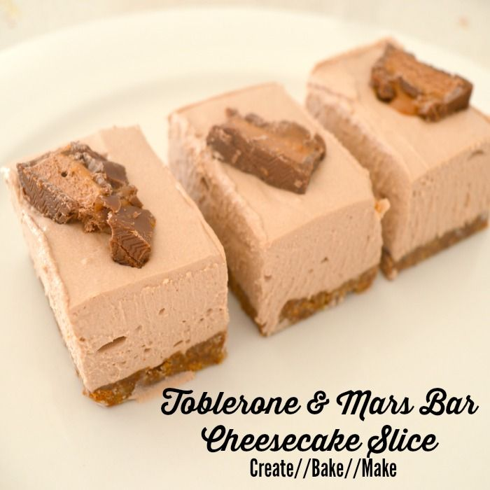 Apologies for the delay in sharing this delicious delight - here is a great and easy recipe for Toblerone and Mars Bar Cheesecake Slice!