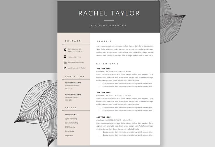 beautiful cv design for copywriter
