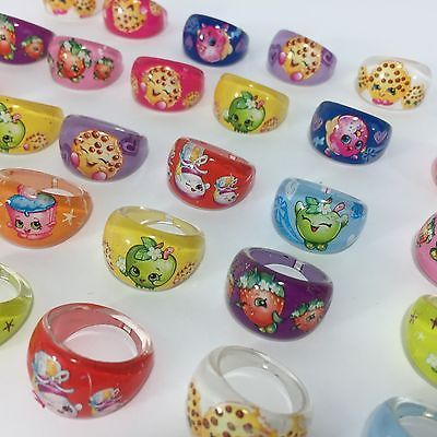 Random 5PCS Shopkins Rings Cupcake Toppers Birthday Party Favor Piñata Cake M2 | eBay