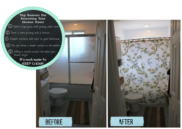 Take down those vintage shower doors!