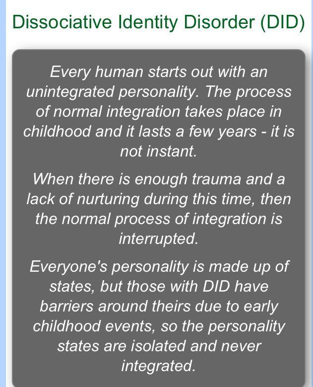 dissociative identity disorder book pdf