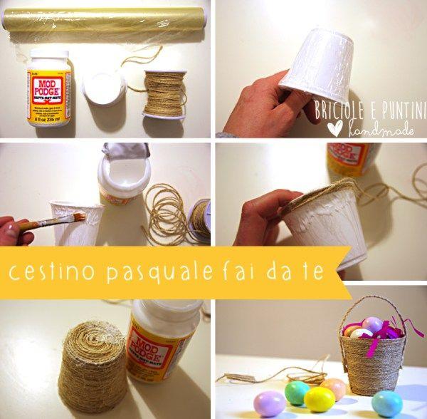 1000 idee su cestino di corda su pinterest cestini all for Cestini fai da te