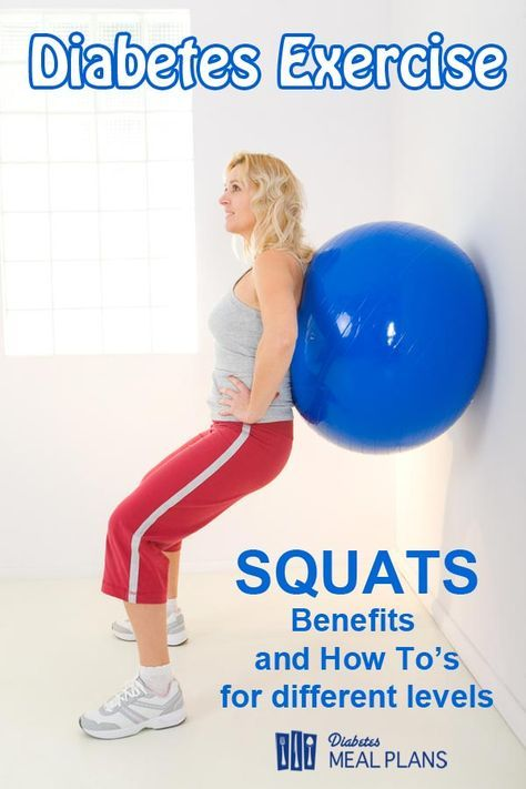 Diabetes Exercise: Squats: Benefits and How To's for different fitness levels https://www.musclesaurus.com/