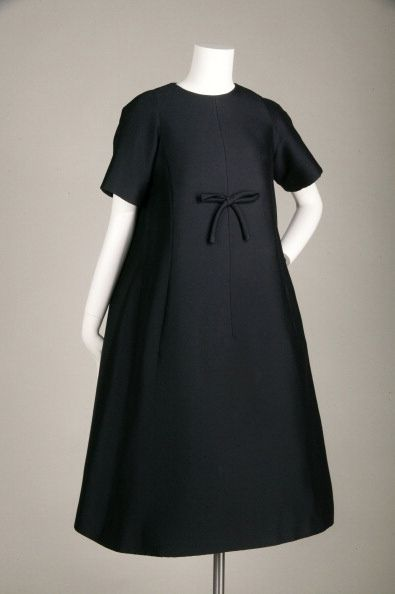 Trapeze afternoon dress, 1958 Mohair by Yves Saint Laurent for Christian Dior. (Photo by Chicago History Museum/Getty Images)