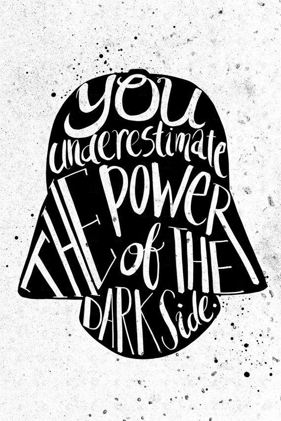 Star Wars Darth Vader casco tipografía por PenelopeLovePrints