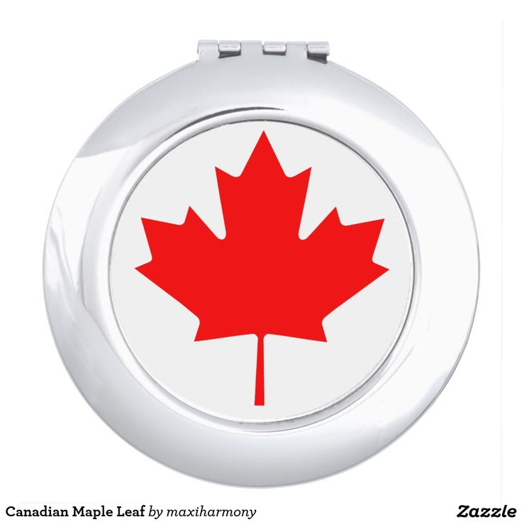 Canadian Maple Leaf Makeup Mirror