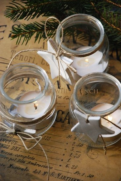 The White Bench: Creative Christmas #2: Upcycled Yogurt Jars.